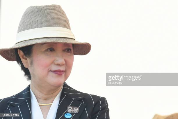 Governor of Tokyo Yuriko Koike a Japanese politician seen during the Awards Ceremony after the Tokyo stage the eighth and final stage of Tour of...