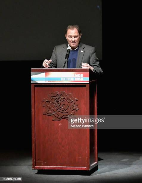 Governor of Utah Gary Herbert speaks during Salt Lake Opening Night Screening Of The Boy Who Harnessed The Wind Presented By Zions Bank during 2019...