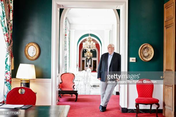 Governor of West Virginia Jim Justice is photographed for Forbes Magazine on May 8 2018 in Greenbrier near White Sulphur Springs West Virginia...