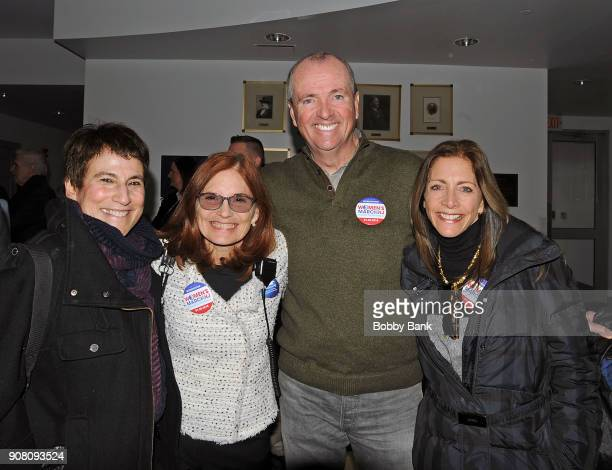 Governor Phil Murphy First Lady Tammy Murphy Marcia Marley and Liz Abzug daughter of Bella Abzug attend the 2nd Annual Women's March On New Jersey on...