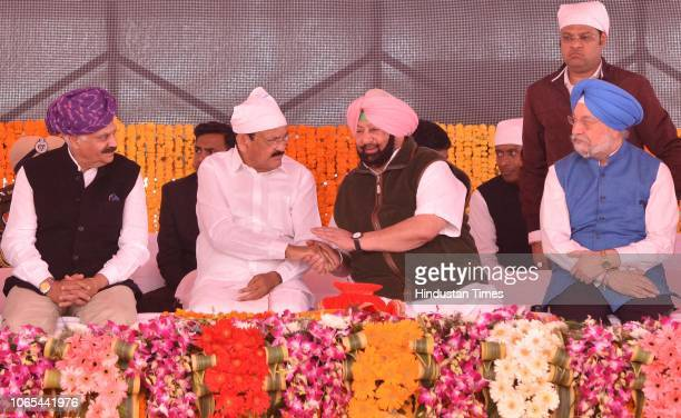 Governor Punjab VP Singh Badnore Vice President of India M Venkaiah Naidu Punjab Chief Minister Captain Amarinder Singh and Minister of State Hardeep...