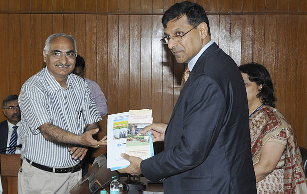 Governor Raghuram Rajan during an interactive session at Centre for Research in Rural and Industrial Development office on April 24 2015 in...