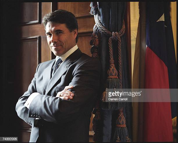 Governor Rick Perry poses for a portrait on August 19 2004 at the Texas State Capitol in Austin Texas