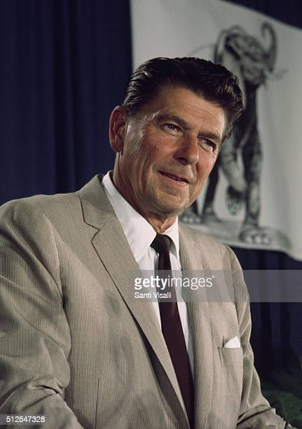 Governor Ronald Reagan at a Republican Convention on August 6 1968 in Miami Florida