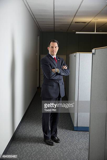 Governor Scott Walker is photographed for USA Today on November 16 2013 in New York City PUBLISHED IMAGE