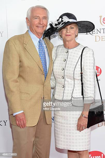 Governor Steve Beshear and Jane Beshear attend 140th Kentucky Derby at Churchill Downs on May 3 2014 in Louisville Kentucky