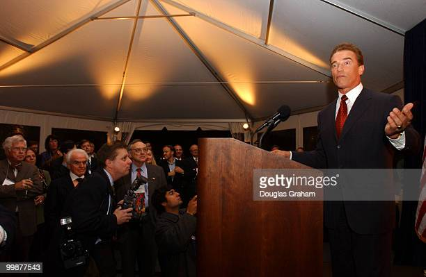 GovernorElect Arnold Schwarzenegger thanks David Dreier and his California colleagues for hosting a reception to welcome the new Governor to...