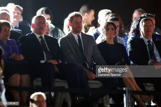 GovernorGeneral of Australia Sir Peter Cosgrove Prince Harry Duke of Sussex Meghan Duchess of Sussex and Chair of the Invictus Games Lieutenant...