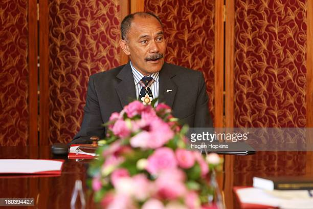 GovernorGeneral Sir Jerry Mateparae makes a speech during a ceremony at Government House on January 31 2013 in Wellington New Zealand After a recent...