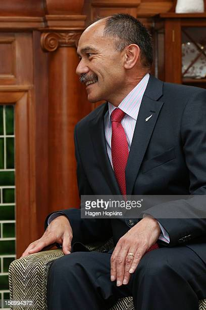 GovernorGeneral Sir Jerry Mateparae talks during a meeting with Prince Philippe Of Belgium at Government House on November 27 2012 in Wellington New...