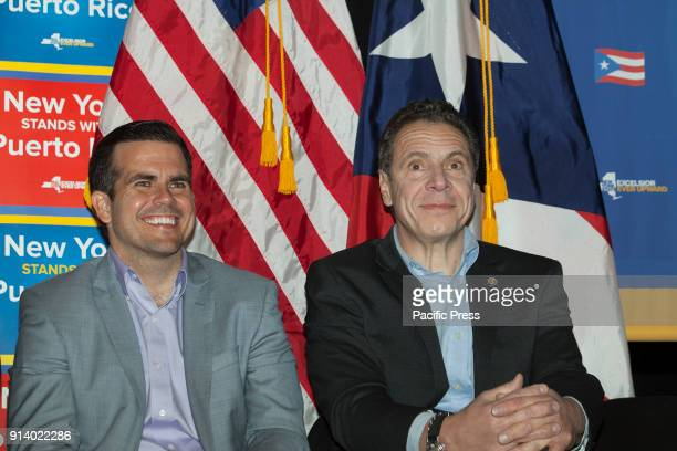 Governors Andrew Cuomo Ricardo Rossello attend at New York stands with Puerto Rico rally at Casita Maria Center for Arts and Education in the Bronx