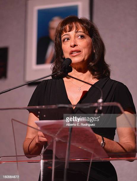 Governors Ball cochair Geriann McIntosh speaks at the 64th Annual Primetime Emmy Awards Governors Ball preview at Academy of Television Arts Sciences...