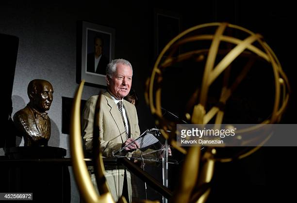 Governors Ball committee chair Russ Patrick speaks during 66th Annual Primetime Emmy Awards 2014 Creative ArtsGovernors Ball sneak peek press preview...