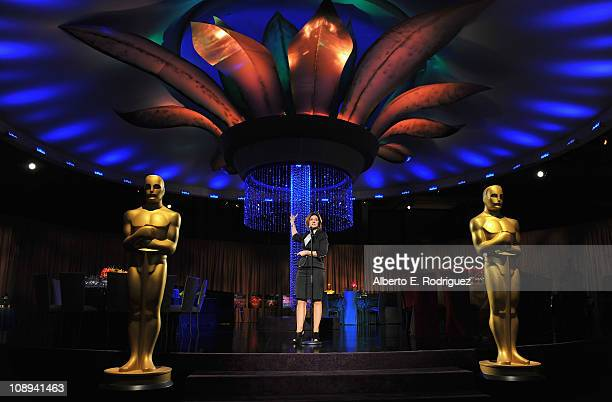Governors Ball producer Cheryl Cecchetto speaks at the 83rd Academy Awards Governors Ball preview on February 9 2011 in Beverly Hills California