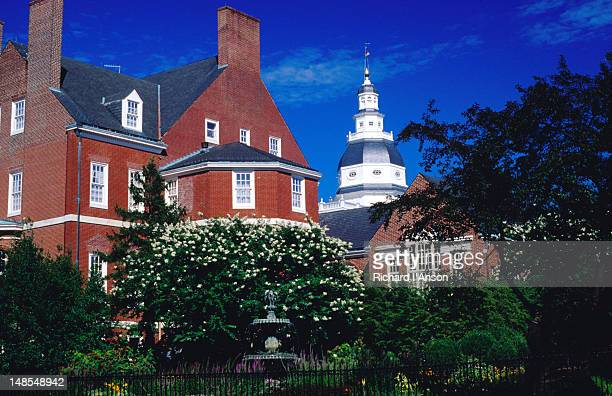 governor's house on state circle. - maryland us state stock pictures, royalty-free photos & images