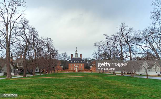 governor's mansion williamsburg - colonial style stock pictures, royalty-free photos & images