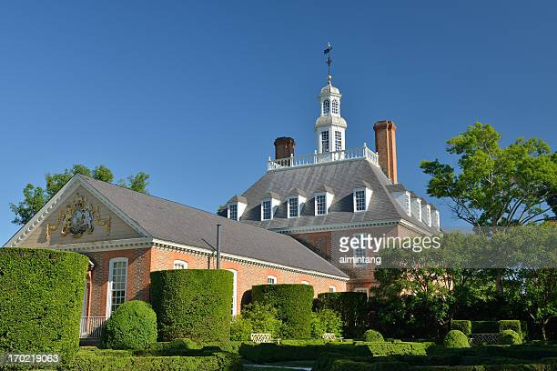 governor's palace - colonial style stock pictures, royalty-free photos & images