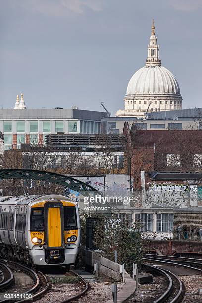 Govia Thameslink Railway Passenger Train and St Paul's Cathedral