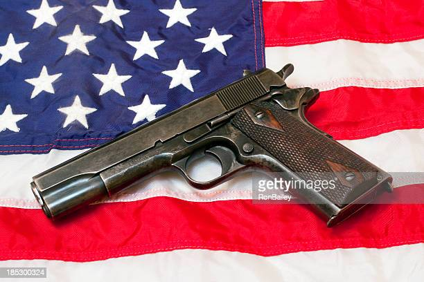 Govt Issue 1911 On US Flag