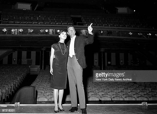 Gower Champion and Anna Maria Alberghetti on stage at the Imperial Theatre