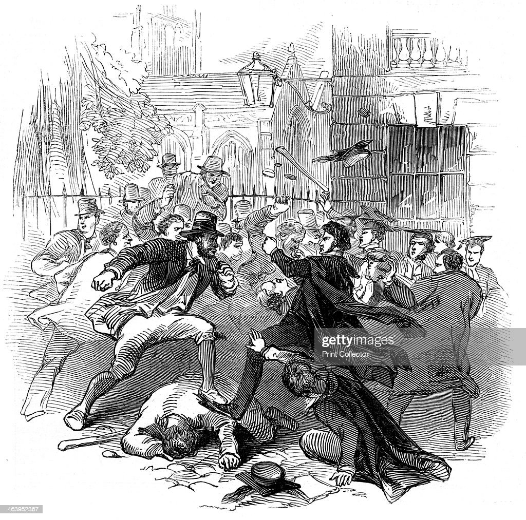 Gown and town row, Oxford, 15th November 1845. A fight between ...