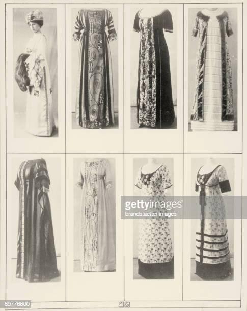 Gowns and dresses of the Wiener Werkstaette Photographs of the illustrated book Mode des WienerWerkstaettenArchivs 1911