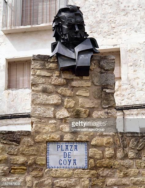 Goya Francisco de Spanish painter and engraver Bust Fuendetodos Spain