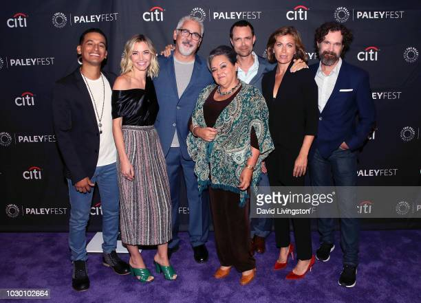 Goya Robles Megan Stevenson Adam Arkin Lidia Porto Davey Holmes Sonya Walger and Sean Bridgers from Get Shorty attend The Paley Center for Media's...