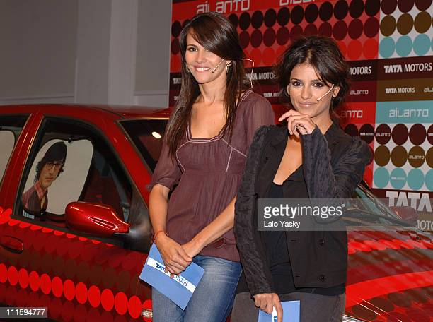 Goya Toledo and Monica Cruz during Monica Cruz and Goya Toledo Launch the Tata Indica Car at Espacio Loft in Madrid Madrid Spain