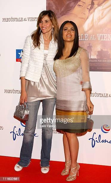 Goya Toledo and Salma Hayek during Ask the Dust European Premiere in Madrid Arrivals at Kinepolis Cinema in Madrid Spain