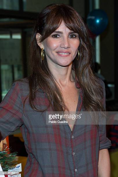 Goya Toledo attends Aladina Foundation charity event at 'COAM' on December 13 2014 in Madrid Spain