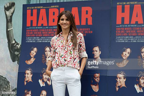 Goya Toledo attends 'Hablar' photocall at Mirador Sala on June 10 2015 in Madrid Spain