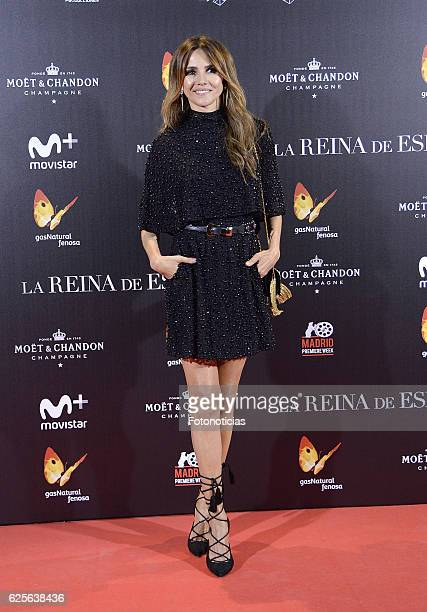 Goya Toledo attends 'La reina de Espana' Madrid premiere at Callao City Lights cinema on November 24 2016 in Madrid Spain