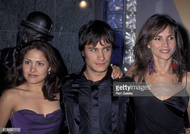 Goya Toledo Gael Bernal and Vanessa Bauche attend the premiere of 'Amores Perros' on March 27 2001 at Galaxy Theater in Hollywood California