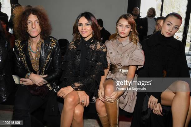 Goya Toledo, Lena Simonne and Lorena Rae attend the Elie Saab show as part of the Paris Fashion Week Womenswear Fall/Winter 2020/2021 on February 29,...
