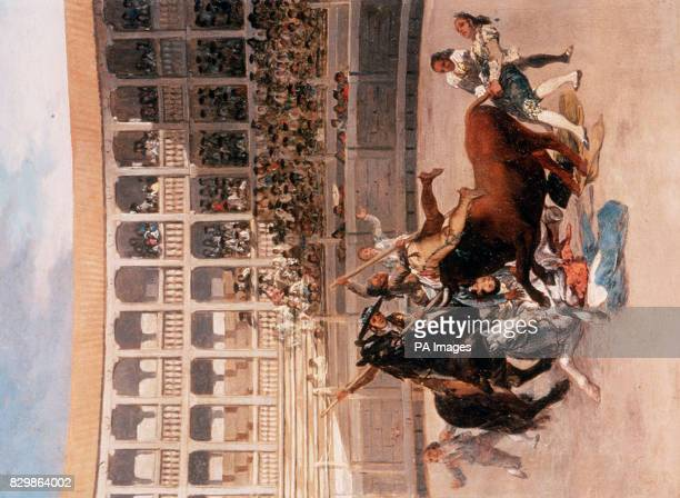 Goya y Lucientes 'Death of a Picador' dated 1793 from the collection formed by the British Rail Pension Fund Pensioners were 55 million richer today...