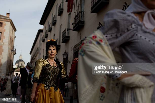 'Goyescas' take part in the San Isidro procession during the San Isidro festivities on May 15 2014 in Madrid Spain During the festivities in honor of...