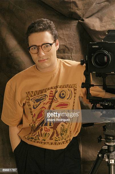 Goyo Gonzalez actor and television presenter Next to a photograph camera