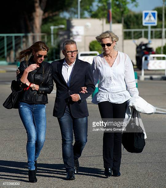 Goyo Gonzalez attends the funeral chapel for the journalist Jesus Hermida at La Paz Morgue on May 05 2015 in Madrid Spain