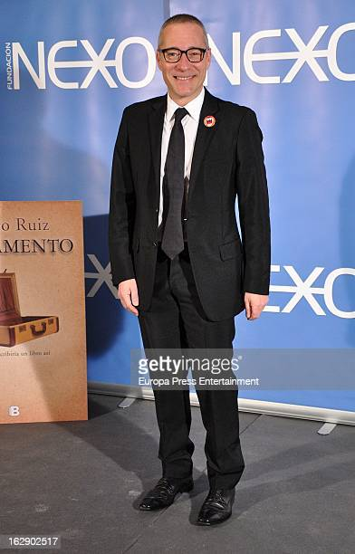 Goyo Gonzalez attends the presentation of 'Testamento' new book by Pedro Ruiz at Club de Tiro on February 28 2013 in Madrid Spain