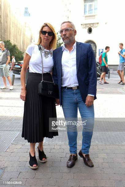 Goyo González attend the Mass in memory of actor Arturo Fernandez at the Basilica of Jesus de Medinaceli on July 17 2019 in Madrid Spain