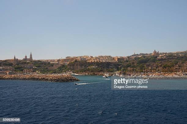 gozo- panoramic view - países del golfo fotografías e imágenes de stock