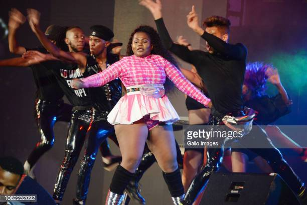 Gqom and House music sensation Busiswa Gqulu during the 10th annual Feather Awards at the Johannesburg City Hall on November 15 2018 in Johannesburg...