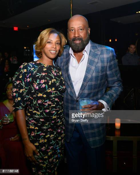 Grab a Ball Play Foudner Jazmin Erving and Los Angeles Clippers Assistant Coach Mike Woodson attend the Coach Woodson Las Vegas Invitational red...