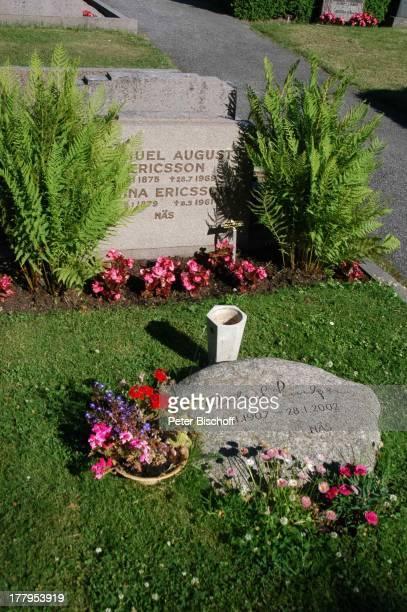 Grab von Astrid Lindgren Friedhof von Vimmerby Smaland Schweden Europa Grabstein Autorin Reise
