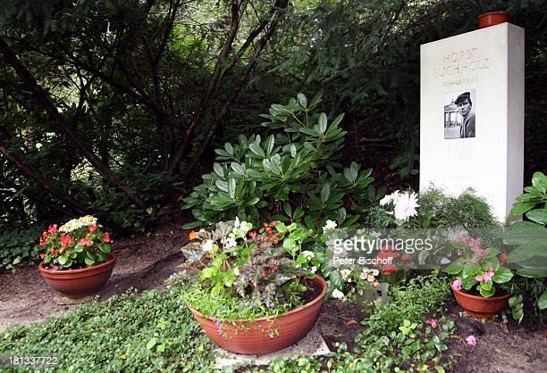 Grab von Horst Buchholz Waldfriedhof Heerstrasse Berlin Deutschland Europa Grabstein Blumen Friedhof Grabstelle Deutscher Schauspieler LR FTP