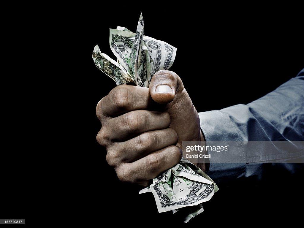 grabbing money : Photo
