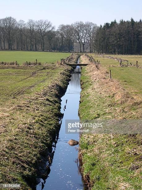 Graben, Künstlerdorf Worpswede , Niedersachsen, Deutschland, Europa, , Prod.-Nr.: 926/2003, Wasser, Natur, Landschaft, Reise,