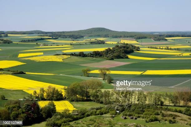 Grabfeld, view from Judenberg near Kleinbardorf, Hassberg Range, Rhoen-Grabfeld, Lower Franconia, Bavaria, Germany