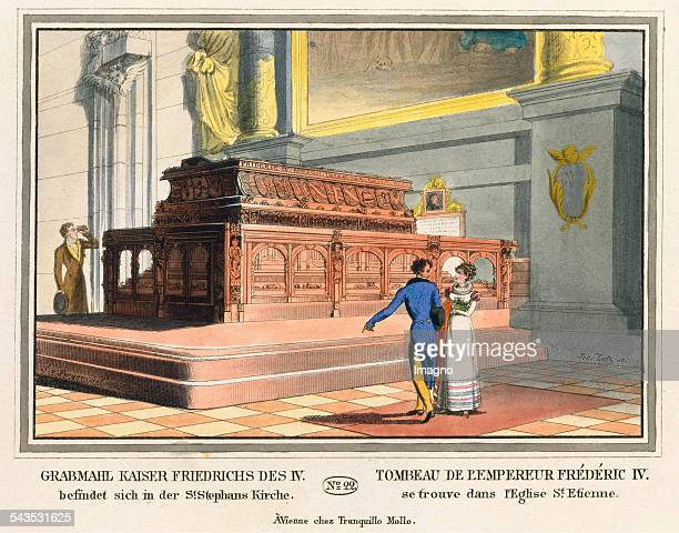 Grabmahl Kaiser Friedrichs des IV befindet sich in der St Stephans Kirche [Marble grave of Emperor Friedrich III by Niclas Gerhaert van Leyden...